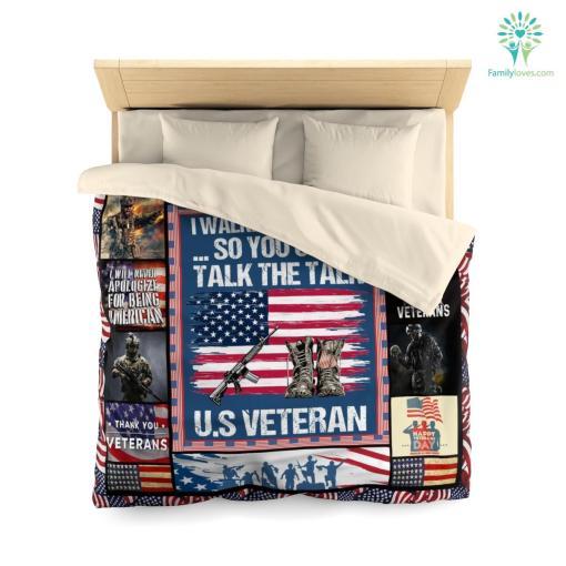 U.S. veterans memorial museum microfiber duvet cover pillow bedding sheet %tag familyloves.com