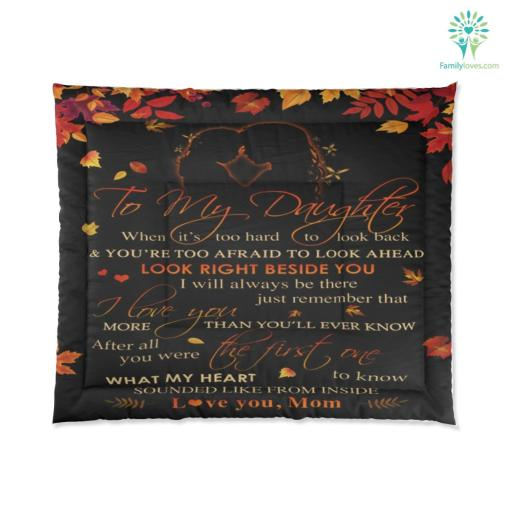 To My Daughter Comforter Gift %tag familyloves.com