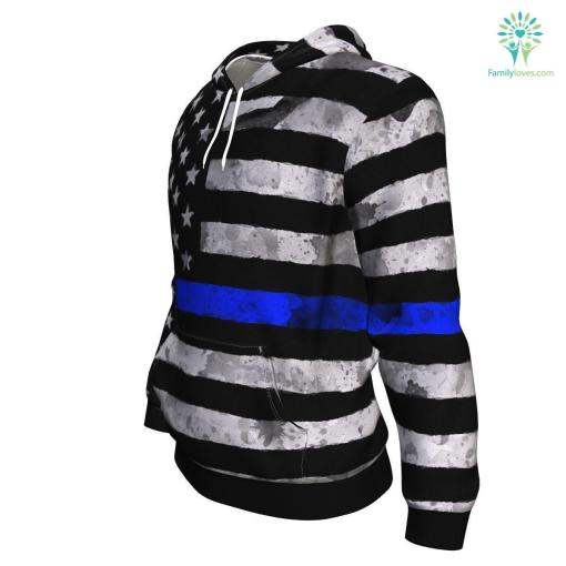 Blue Line ugly christmas hoodie %tag familyloves.com