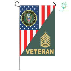 ARMY GARDEN FLAG RANK VETERAN %tag familyloves.com