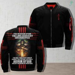 Warrior For God - I'm A Warrior Of God The Lord Jesus Is My Commanding Officer Jacket %tag familyloves.com