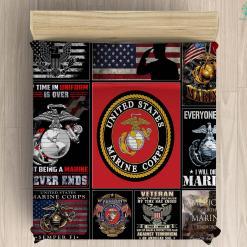 U.S. Marine Corps war memorial microfiber duvet cover pillow bedding sheet %tag familyloves.com