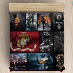 U.S. Marine Corps recruiting microfiber duvet cover pillow bedding sheet %tag familyloves.com