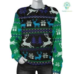 Ugly Christmas Green and Blue Sweater %tag familyloves.com