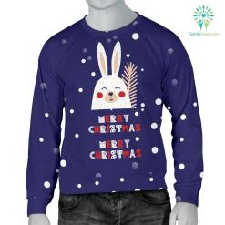 Merry Christmas Bunny Men's Sweater %tag familyloves.com