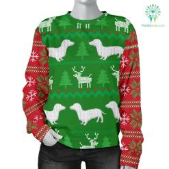 Ugly Christmas Sweater With Dachshunds Women's %tag familyloves.com
