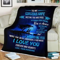 Gift For Wife Ideas Christmas Sherpa Fleece Blanket %tag familyloves.com