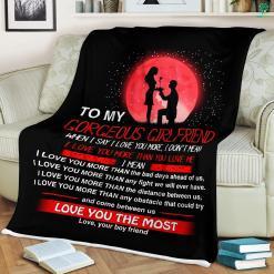 Gift For Girlfriend Christmas Sherpa Fleece Blanket %tag familyloves.com