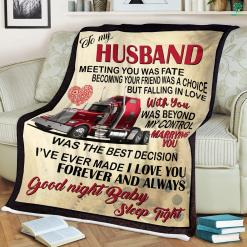 To My Husband Sherpa Fleece Blanket - For Husband Quote %tag familyloves.com