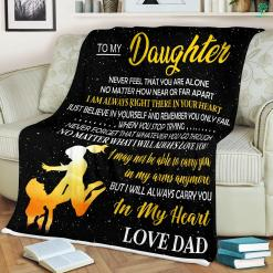To My Daughter From Dad Sherpa Fleece Blanket %tag familyloves.com