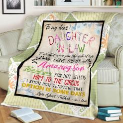 Letter To Daughter In Law Sherpa Fleece Blanket %tag familyloves.com