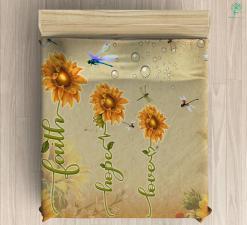 Faith Hope Love Microfiber Duvet Cover Gift %tag familyloves.com