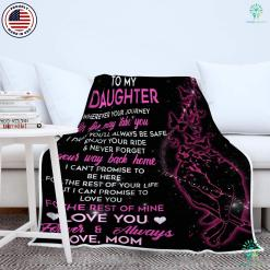 To My Daughter Sherpa Fleece Blanket %tag familyloves.com