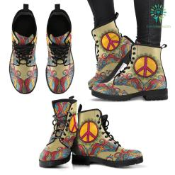 Handcrafted Hippie Peace 2 Boots %tag familyloves.com