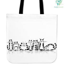 Funny Cat I Cloth Tote Bag %tag familyloves.com