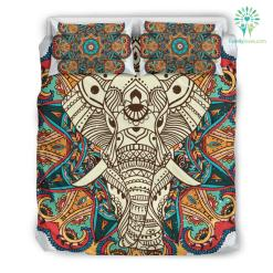 Mandala Elephant 3 Bedding Set. %tag familyloves.com