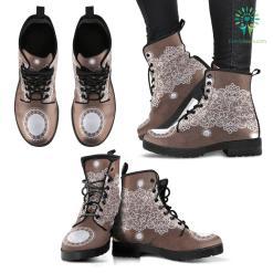 Lace Designed Premium Boots %tag familyloves.com