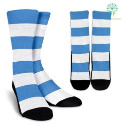 Strip-Blue-White-B-001 Crew Socks %tag familyloves.com
