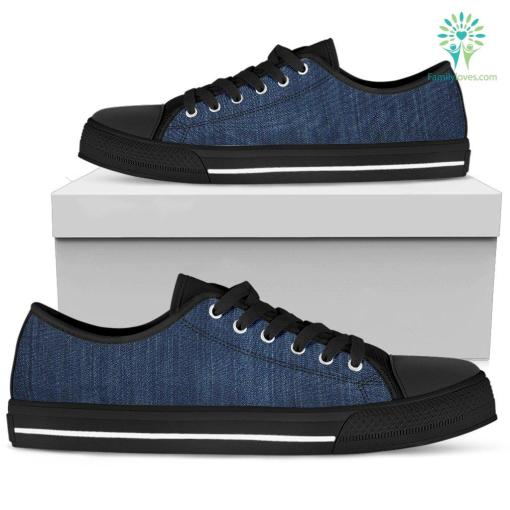 12 Shades of Denim P1 - Women's Low Top Shoes (Black) %tag familyloves.com