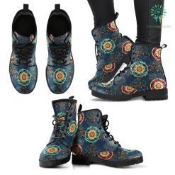 Handcrafted Paisley Mandala 2 Boots %tag familyloves.com