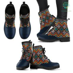 Tribal Ethnic Pattern Handcrafted Boots %tag familyloves.com