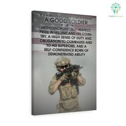 George S. Patton quote Canvas-It Is A Proud Privilege To Be A Soldier – A Good Soldier [With]Discipline, Self-Respect... canvas discipline self-respect george george s gifts good soldier good soldier discipline good soldier discipline self-respect patton patton quote patton quote canvas products proud privilege quote quote canvas soldier soldier a good soldier soldier a good soldier discipline soldier discipline soldier discipline self-respect %tag familyloves.com