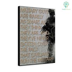 Maureen Dowd quotes canvas - Military Guys Are Rarely As Smart As They Think They are, And They've... %tag familyloves.com
