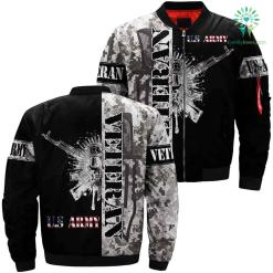 US Army veteran gbw 3D print white black jacket %tag familyloves.com