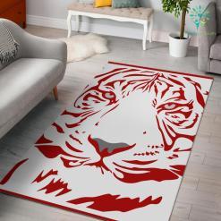 Red-Tiger-001 White Area Rug %tag familyloves.com
