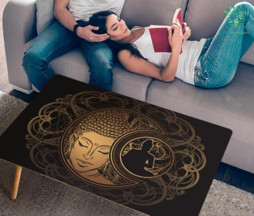 HandCrafted Golden Zen Coffee Table %tag familyloves.com