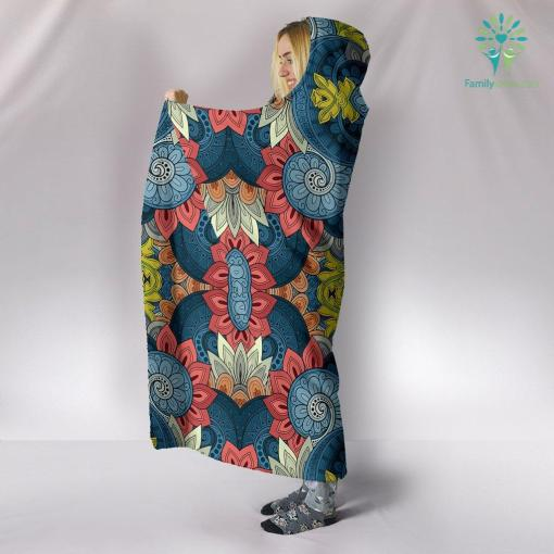 Boho Abstract Hooded Blanket %tag familyloves.com