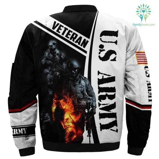 US Army Veteran 3D print jacket %tag familyloves.com