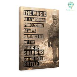 Heinrich Heine Quotes Canvas-The Music At A Wedding Procession Always Reminds Me Of The Music... %tag familyloves.com
