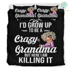 Crazy Grandma Bedding Set %tag familyloves.com