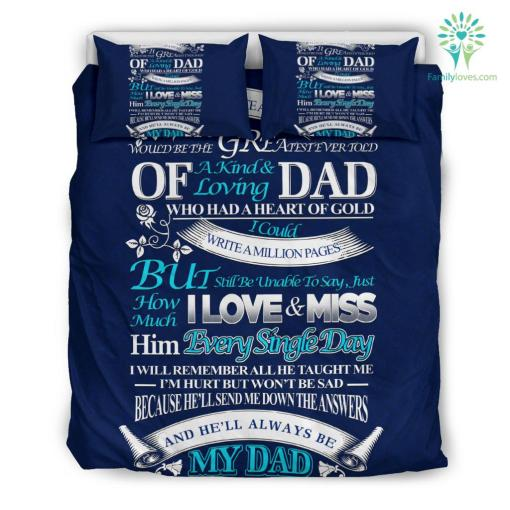In Memory of My Dad Bedding Set Gift %tag familyloves.com