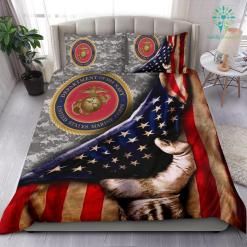 US MARINE AMERICAN FLAG BEDDING SET %tag familyloves.com