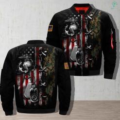 U S M C - PERSONALIZED 3D full print jacket %tag familyloves.com