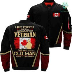 Canadian Armed Forces veteran 3D full print jacket %tag familyloves.com