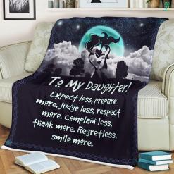 Gift For Daughter Sherpa Fleece Blanket-Expect less, prepare more, judge less, respect more... %tag familyloves.com