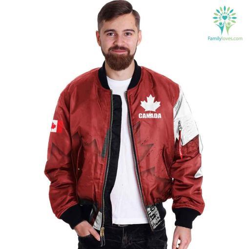 Canada Veteran Full Print Jacket %tag familyloves.com