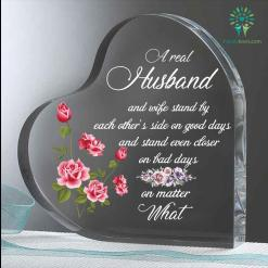 A real husband and wife stand by each other's Heart Keepsake %tag familyloves.com