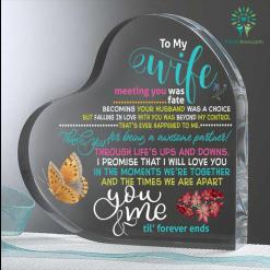 To My Wife Meeting You Was Fate Becoming Your Husband Heart Keepsake %tag familyloves.com