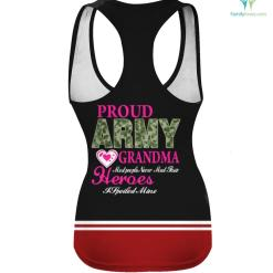 Proud Army grandma Most People Never Meet Their Heroes I Spoiled Mine T-shirt Gifts %tag familyloves.com