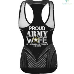 Proud Army Wife T Shirt for Military Wife My Soldier My Hero hoodie shirt wife %tag familyloves.com