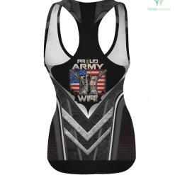 Proud Army Wife America Flag US Military Pride hoodie shirt %tag familyloves.com