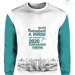 Never Underestimate a nurse who survived 2020 coronavirus pandemic %tag familyloves.com