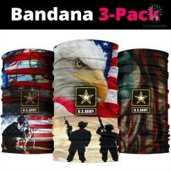 US Army With Usa Flag Bandana %tag familyloves.com