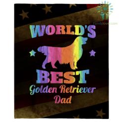 World&39;s Best Golden Retriever Dad T Shirt %tag familyloves.com