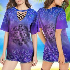 Yoga Christmas Shirt Beautiful Flower Mandala Chakra Om Graphic Yoga T-Shirt Yoga Shirt Design %tag familyloves.com