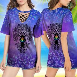 Yoga T Shirt Mens Bodhi Tree With Chakra Lotus Pose Yoga Tshirt Goat Yoga Shirt %tag familyloves.com